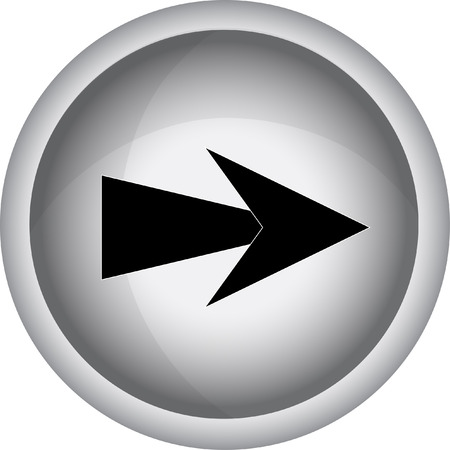 satin round: Arrow sign. Vector icon