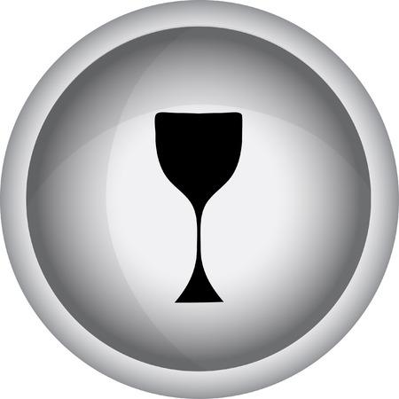 winetasting: Wine glass icon - Vector