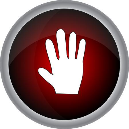 dedo meÑique: Muestra de la mano humana. Vector icono