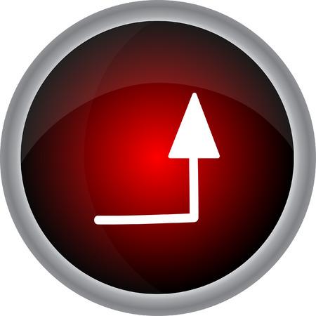 orientation marker: Arrow sign. Vector icon