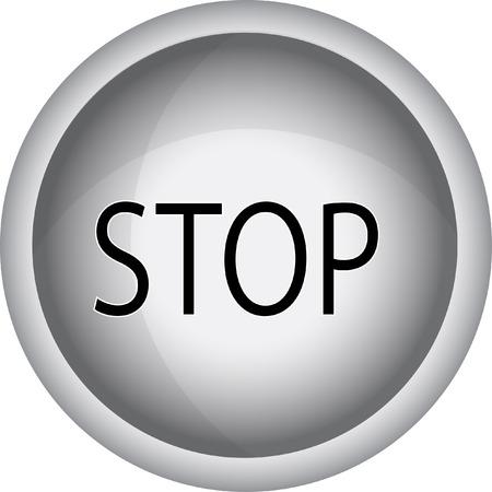 stop icon: stop icon Illustration