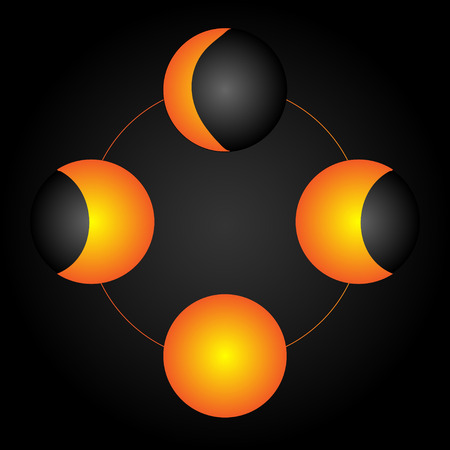 moon phases: Moon phases. vector Illustration