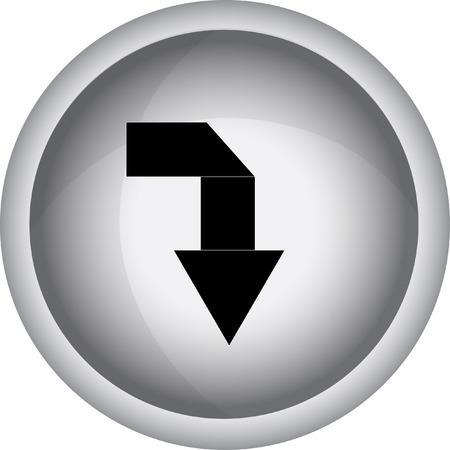 top pointer: Arrow sign. Vector icon