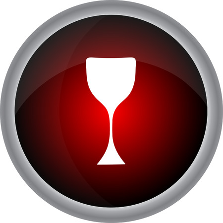 cabernet: Wine glass icon - Vector