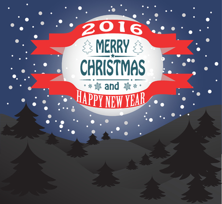 joyeux noel: Nouvel an et la carte de Joyeux Noël. Vecteur