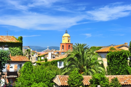 Beautiful landscape of Saint-Tropez, France photo