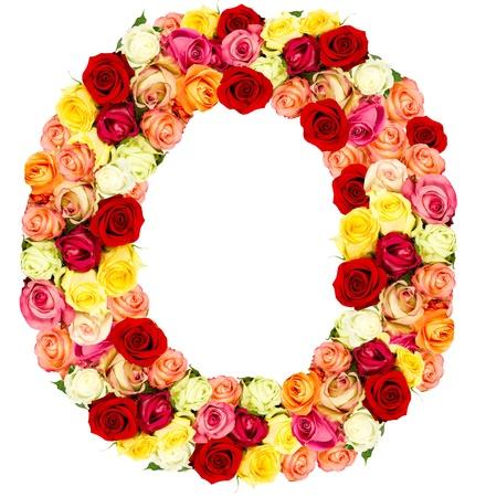 O, roses flower alphabet