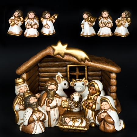 christmas crib. nativity scene, Jesus Christ, Mary and Josef