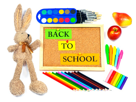 accesories: colorful school accesories. back to school background
