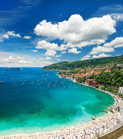 cote d'azur: view of luxury resort and bay of Cote dAzur. french riviera
