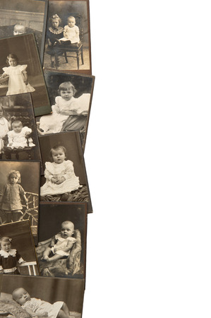 douther: vintage baby pictures in sepia circa 1880-1900 Stock Photo