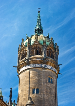 Martin Luther Church: Tower Of Palace Cathedral Wittenberg Is Luther City  In Germany, UNESCO