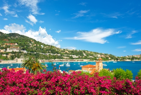 villefranche sur mer: beautiful mediterranean landscape  french riviera near Nice and Monaco