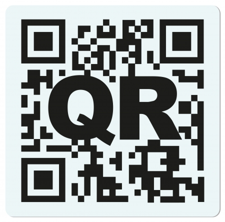bbm: QR and bbm code  sample QR code with letter QR Stock Photo
