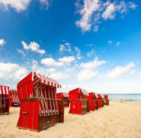 chear: typical scene on the Baltic Sea  lanscape with cloudy blue sky Stock Photo