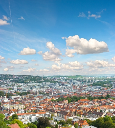 View of Stuttgart city, Germany  european city landscape photo