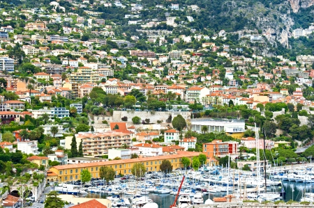 villefranche sur mer: view of luxury resort and bay of Villefranche-sur-Mer, Cote d
