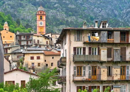 Picturesque Tende village in southeastern France  Old buildings Banco de Imagens - 24280684