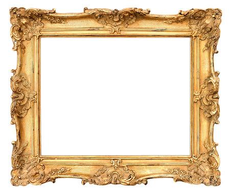 barroco: viejo marco de fondo de oro de la vendimia hermosa Foto de archivo