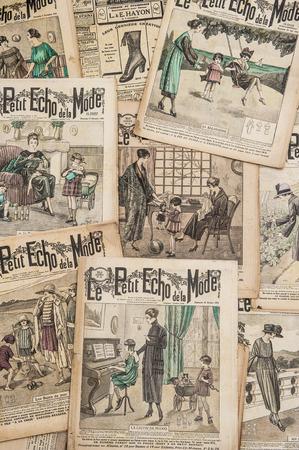 Antique french fashion magazine Le Petit Echo de la Mode from 1919  Vintage Journal for a woman photo