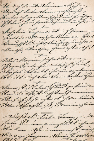 vintage handwriting with undefined text  manuscript  grunge paper background Stock Photo