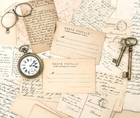 ephemera: antique letters and postcards  ephemera  nostalgic old papers background
