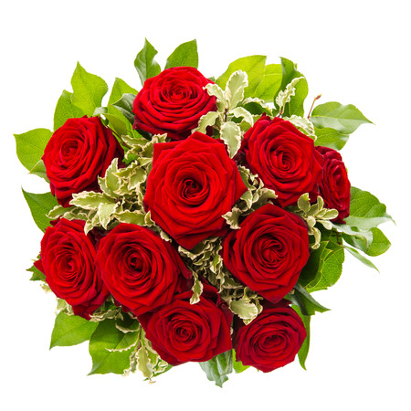 rose bouquet: bouquet of red rose flower isolated on white background