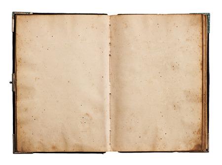 open oud boek geà ¯ soleerd op een witte achtergrond met clipping path Stockfoto