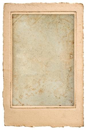 오래 된 빈 사진 포스트 카드 프레임 빈티지 그런 지 종이 배경 스톡 콘텐츠 - 29723239