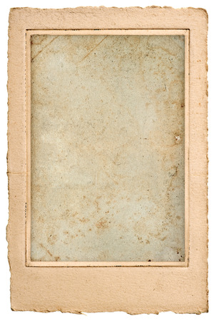 scrap of paper: old blank photo post card with frame  vintage grunge paper  background