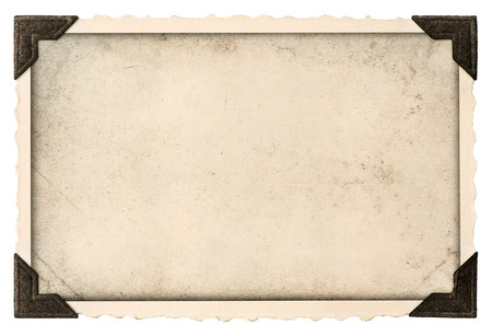 corner border: old photo frame with corner and empty field for your picture isolated on white