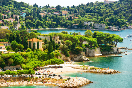 villefranche sur mer: view of luxury resort and bay of Villefranche  Cote d