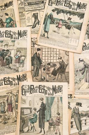 antique french fashion magazine  La Mode Illustree  photo