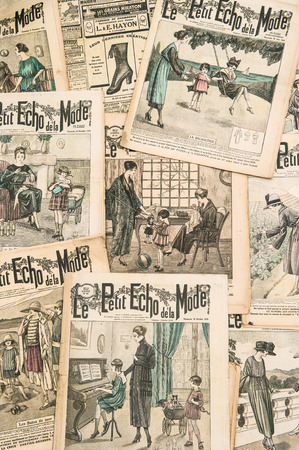 edwardian: antique french fashion magazine  La Mode Illustree