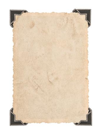 Ancienne carte de photo avec coin isolé sur fond blanc. Cadre photo de style rétro Banque d'images - 31334079