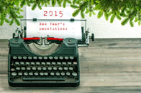 Typewriter with 2015 New Year photo