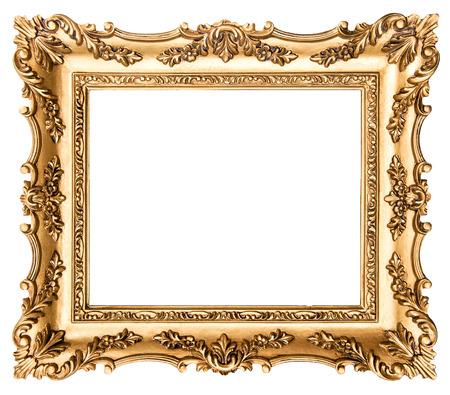 Cornice dorata Vintage cornice isolato su sfondo bianco. Oggetto di stile antico Archivio Fotografico - 39172441