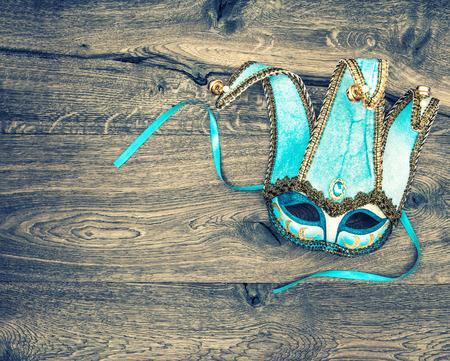 Carnival mask harlequin. Symbol of venetian mask festival. Holidays background Stockfoto