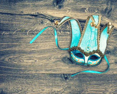 Carnival mask harlequin. Symbol of venetian mask festival. Holidays background Banque d'images
