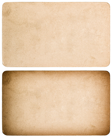 white textured paper: Used textured paper cardboard isolated on white background. Scrapbook object