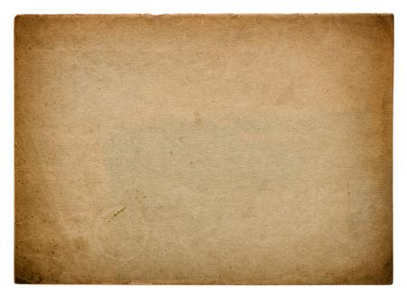 ephemera: Used paper page texture. Vintage cardboard background with vignette