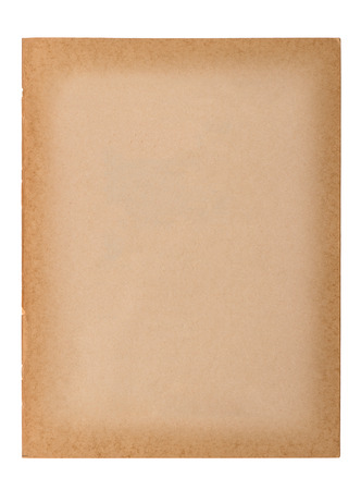 picture book: Old paper sheet isolated on white background. Used paper texture Stock Photo