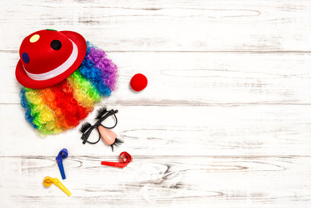 clown nose: Carnival mask clown. Holidays decoration