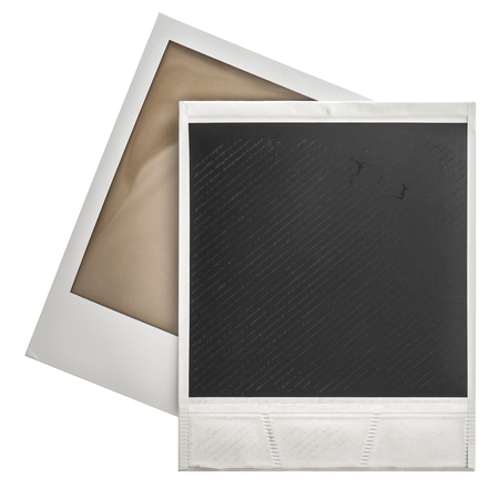 isolaten: Instant photo frames polaroid isolaten on white background Stock Photo