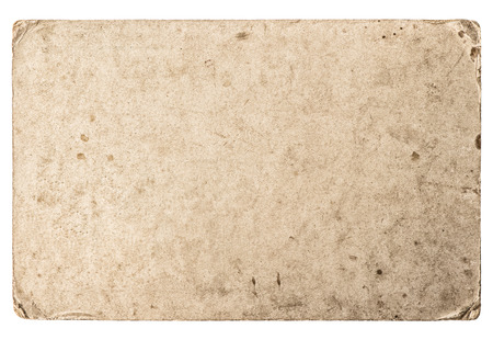 worn paper: Used stained paper texture. Grungy cardboard with worn edges
