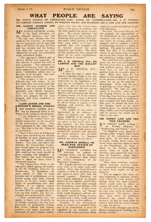Newspaper page with english text. Vintage magazine from 1923
