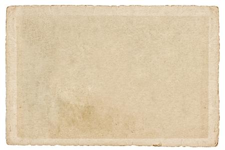 Gebrauchte Papier Karton mit Kanten isoliert auf weißem Hintergrund . Textur . Hintergrund Standard-Bild