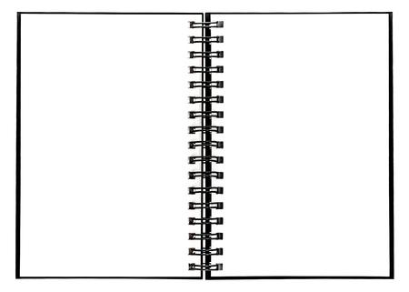 Notebook with spiral binder. Open book on white background Zdjęcie Seryjne