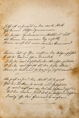 Vintage paper texture background. Undefined handwritten text