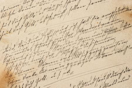 Creative vintage paper texture. Handwriting retro toned background